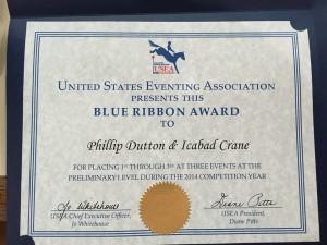 Icabad Blue Ribbon Award