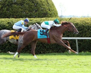 KITTEN'S POINT The Bewitch GR III - 54th Running Keenland Race Course     Lexington, Kentucky April 24, 2015    Race #09 Purse $150,000 1-1/2 Miles-Turf  2:30.28 Augustin Stable, Owner H. Graham Motion, Trainer Edgar Prado, Jockey Cay Dancer (2nd) Maria Maria (3rd) $13.60 $7.40 $5.20 Order of Finish - , , ,  Please Give Photo Credit To:  / Coady Photography