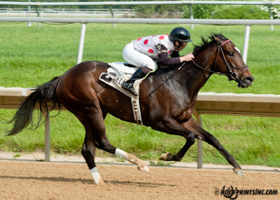 Onepointhreekarats winning The Winter Melody Stakes at Delaware Park on 5/22/13