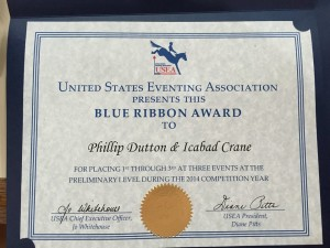 Icabad Blue Ribbon Award