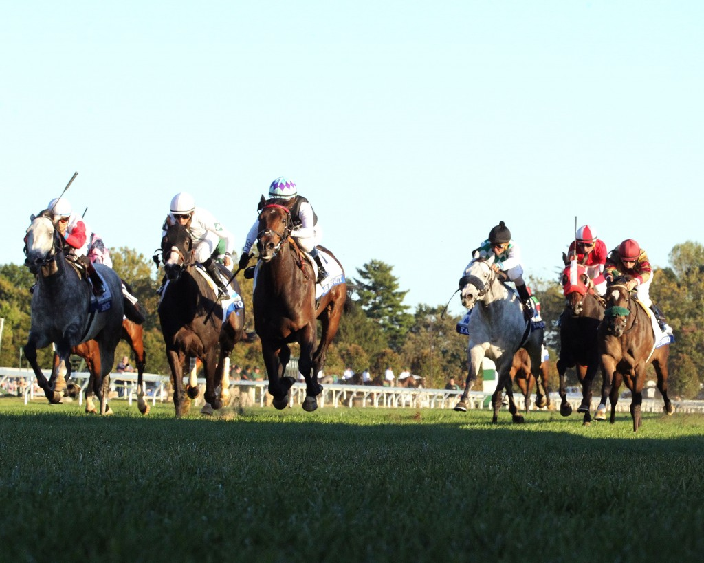 Miss Temple City wins the Shadwell Turf Mile (GI) at Keeneland